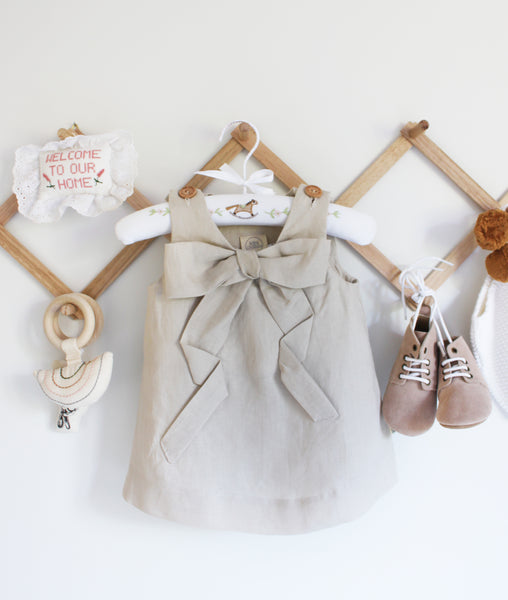 Tinker Bow Dress / Almond / Baby Charley Co