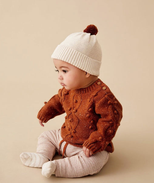 Knitted Jumper w/Baubles / Toasted Pecan / Wilson & Frenchy