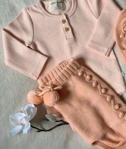 Rib Long Sleeve Bodysuit / Desert Flower / Wilson & Frenchy