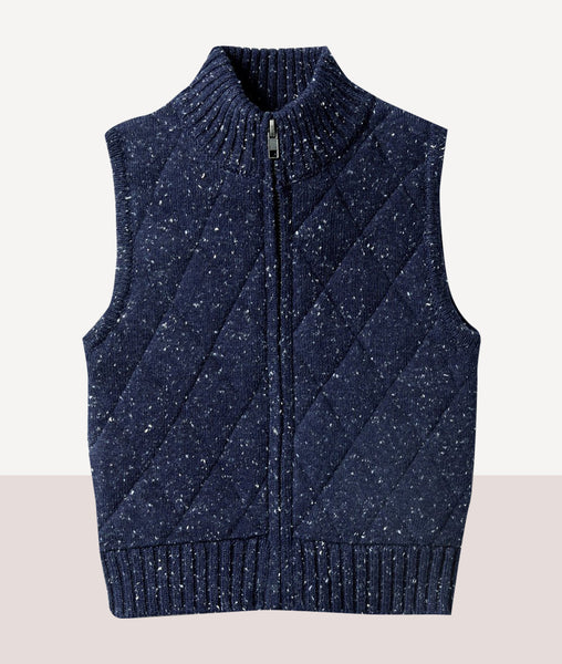 Knitted Vest / Twilight Blue / Wilson & Frenchy