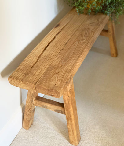 Vinyas Bench Seat / Recycled Elm