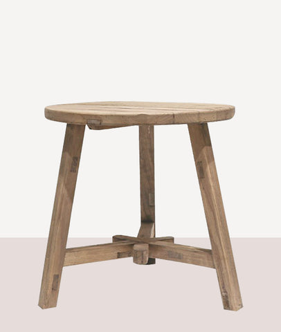 Vinyas Round Tall End Table