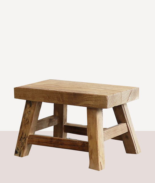 Vinyas Foot Stool / Recycled Elm