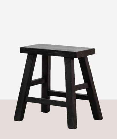 Vinyas Straight Seat Stool / Black