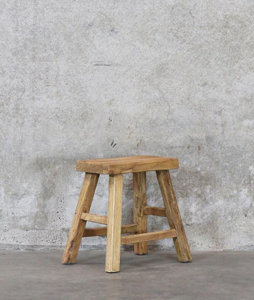 Vinyas Straight Seat Stool / Recycled Elm