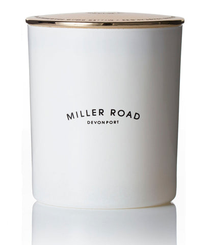 Miller Road Luxury Candle Range / White + Gold Lid