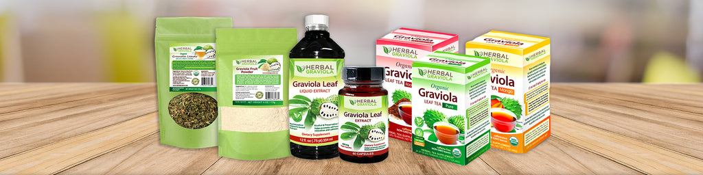 Herbal Graviola Leaf Extract Products