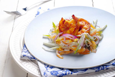 Herbal-Graviola-Curry-Prawn-Salad-in-Spicy-Graviola-Dressing-Paleo
