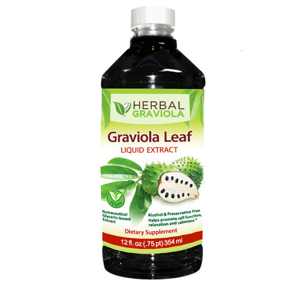 Graviola (soursop guanoabana) Leaf Extract Liquid - Non-GMO - Herbal Graviola