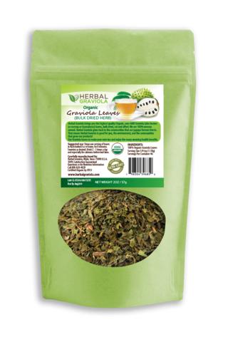 Herbal Graviola Loose Leaf Tea - 2oz Bags - Case Quantity 6