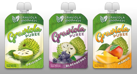 Graviola Goodness 100% Fruit Puree Squeezable Snack Pouch-Case of 12 - non gmo
