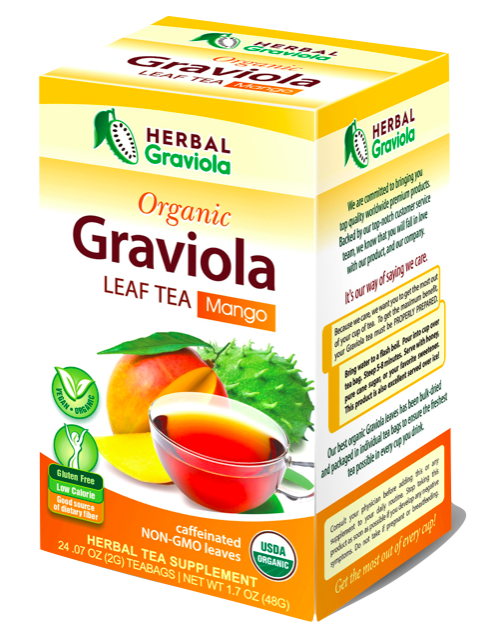 Herbal Graviola Leaf Tea with Mango