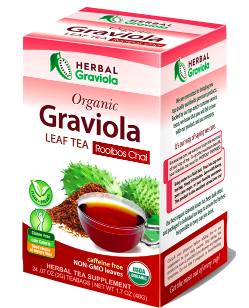 Herbal Graviola soursop Guanabana Leaf Tea - Rooibos Chai