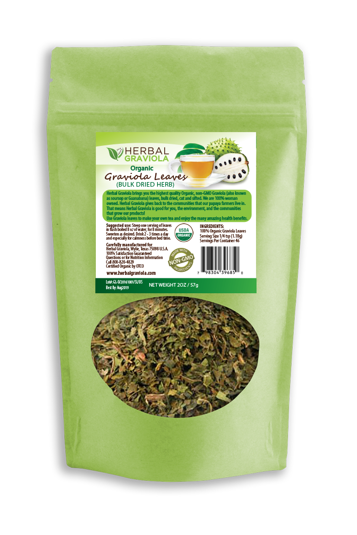 Herbal Graviola Soursop Guanabana bulk loose leaf tea - 2oz
