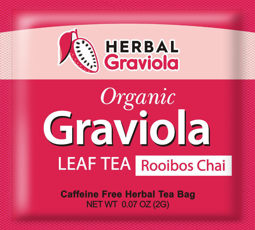 organic Herbal Graviola soursop Guanabana leaves Tea - Rooibos Chai
