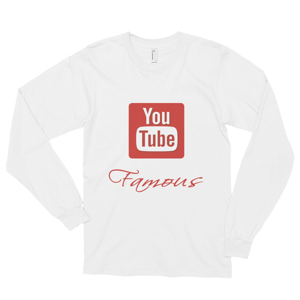 925557fe042d Long sleeve t-shirt (unisex) -Youtube Famous – Micro Swags