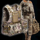 Molle Military Style Plate Carrier Tactical Vests