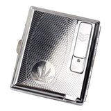 Cigarette Case Holder With Built-in USB Flameless Electronic Rechargeable Lighter