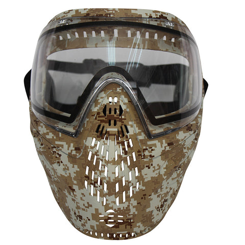 Extremely Comfortable Soft Rubber Digi-Camo Paintball/Airsoft Mask With DYE i4 Double Lens Goggle