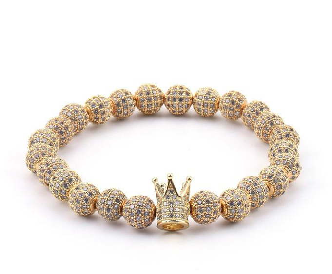 (Gold Member)Swarovski Crystal King Crown Bracelet