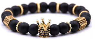 (Midnight)Gold King Crown Luxury Bracelet