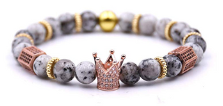 (Shockrum)Rose Gold King Crown Bracelet