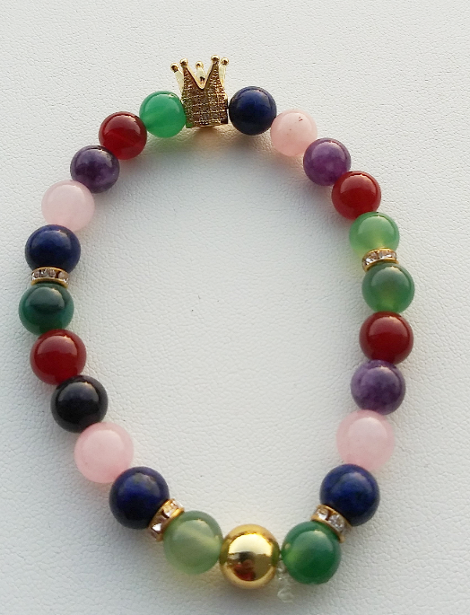 Queen Crown Single Chakra Bracelet