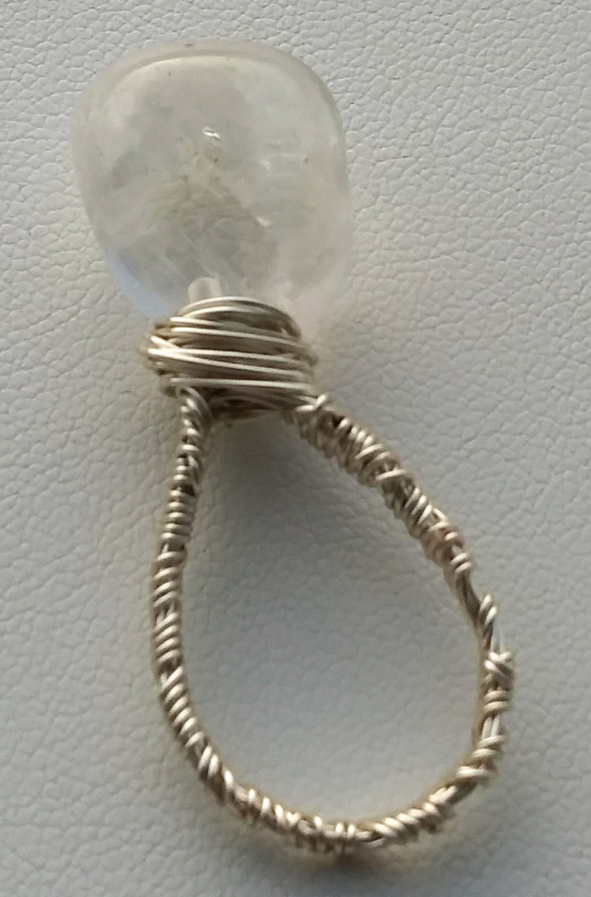 HANDMADE Moonstone Silver Wire Wrapped Ring