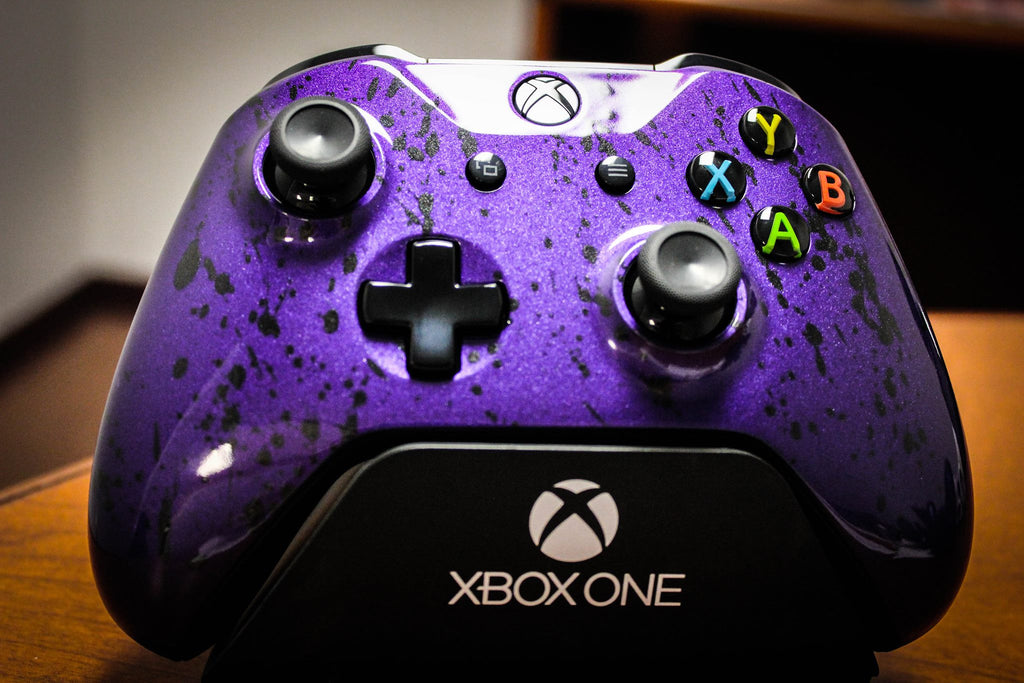 Custom Painted Xbox One S Controller - Metallic Purple - Game and Video