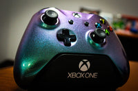Custom Painted Xbox One S Controller - Purple & Green Colorshift - Game and Video