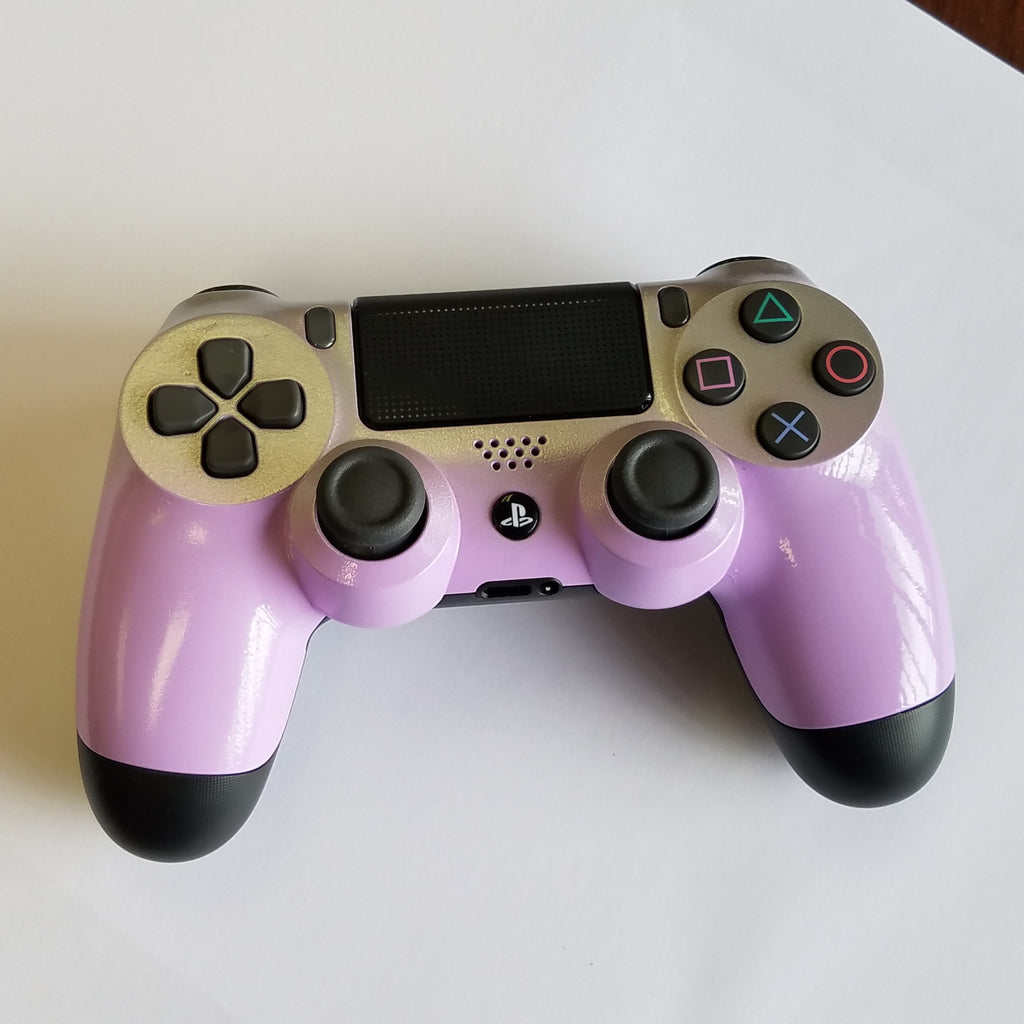 Ps4 Controller - Light Grape with a Silver Fade