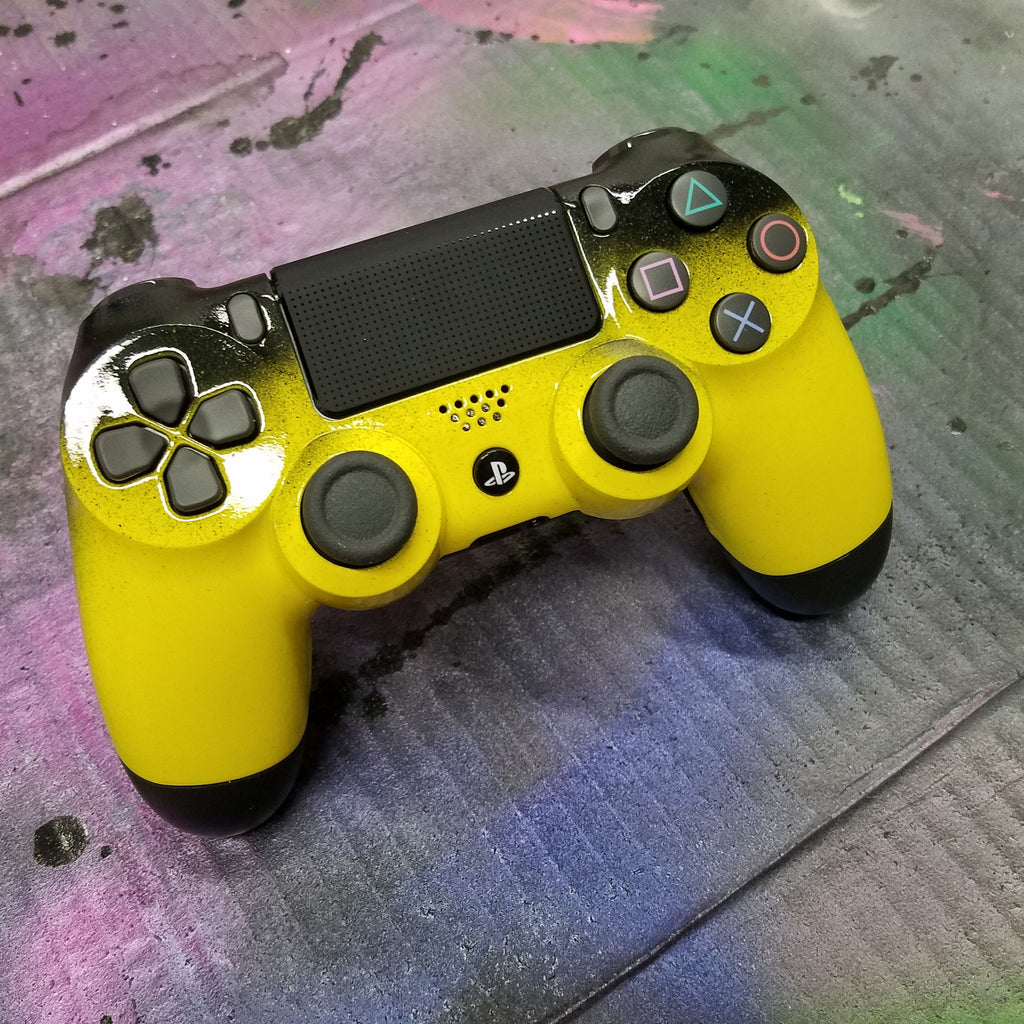 ps4 controller bright yellow with black fade the game and video store. Black Bedroom Furniture Sets. Home Design Ideas