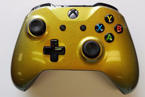 "Golden"" xbox one modded controller."