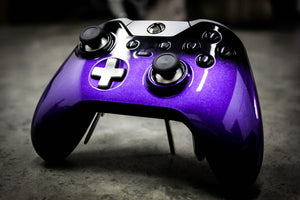 Custom Painted Microsoft Xbox One Elite Controller - Grape Shift - Game and Video