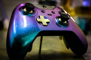 Custom Painted Microsoft Xbox One Elite Controller - Shimmering Waters - Game and Video