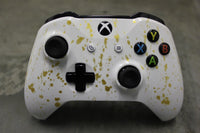 Custom Painted Xbox One S Controller - Gold Drizzle - Game and Video