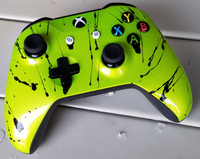 Xbox One S Controller-SLime with Black Splatter