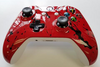 Xbox One S Controller - Bright Red Gloss with Black Splatter