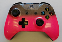 Xbox One S Controller-Custom-Bubble Gum with Silver Sparkle