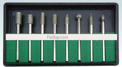 Diamond Bur Set Electroplated 3/32""