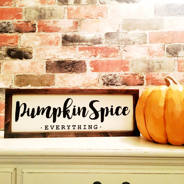 Pumpkin spice everything