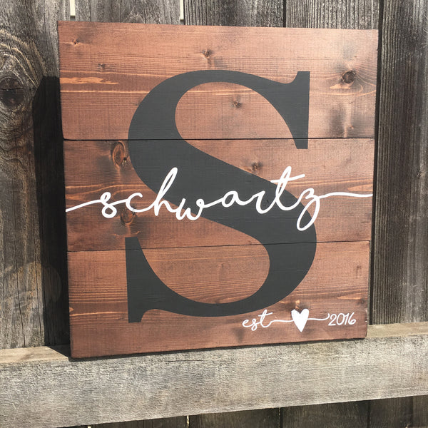 Custom Pallet Established Sign