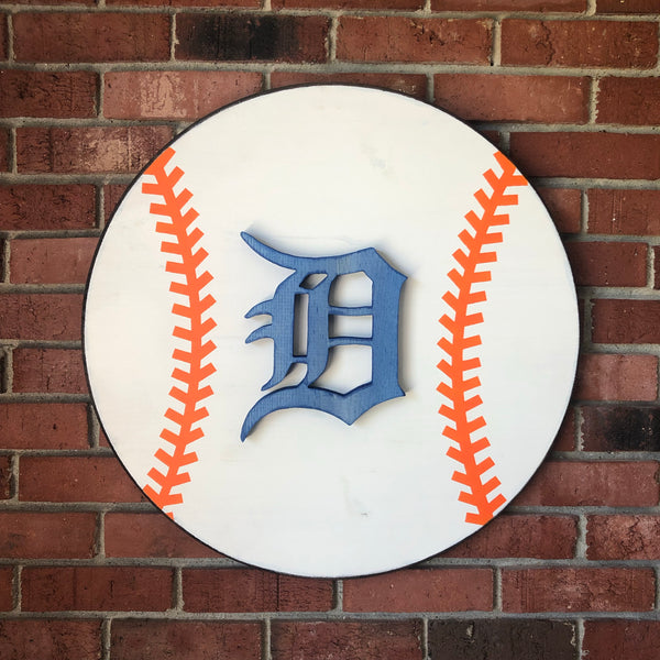 Detroit baseball - hand cut