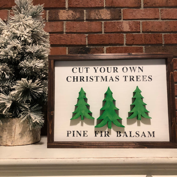 Cut your own Christmas trees - hand cut