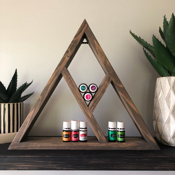 Essential oil triangle shelf