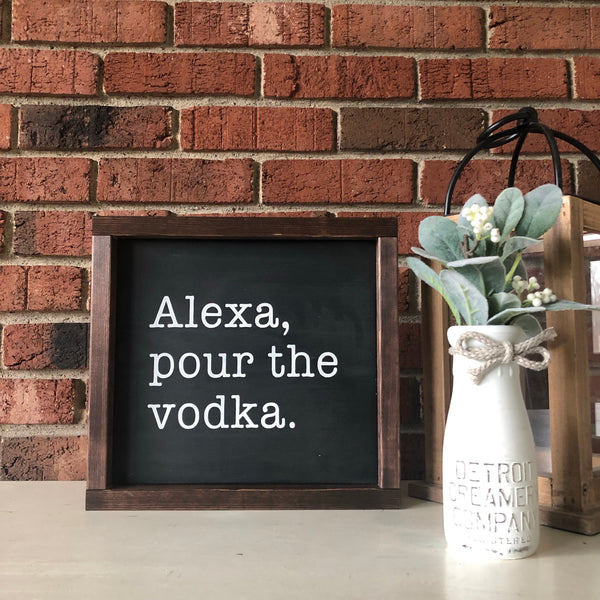 Alexa pour the vodka