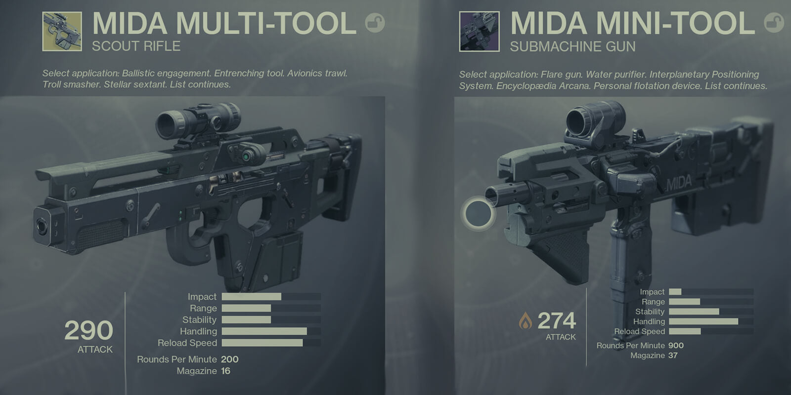 Mida Mini-Tool & Mida Multi-Tool - DestinyCarry