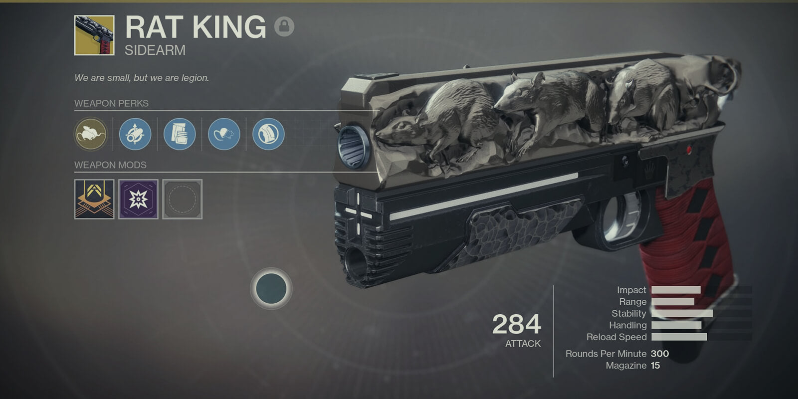 Rat King Exotic Sidearm - DestinyCarry