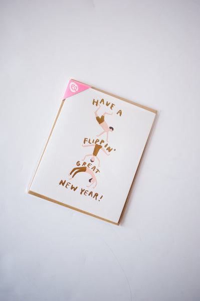 Flippin' New Year Letterpress Card