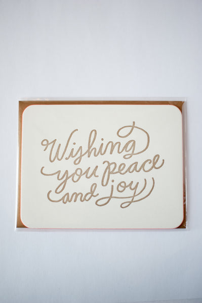 Wishing You Peace and Joy Greeting Card